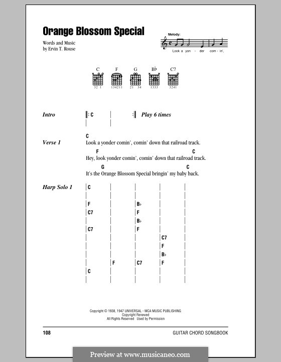 Orange Blossom Special by E.T. Rouse - sheet music on MusicaNeo