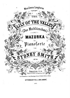 The Lily of the Valley. Mazurka, Op.14: The Lily of the Valley. Mazurka by Sydney Smith