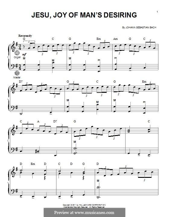 Jesu, Joy of Man's Desiring: For accordion by Johann Sebastian Bach