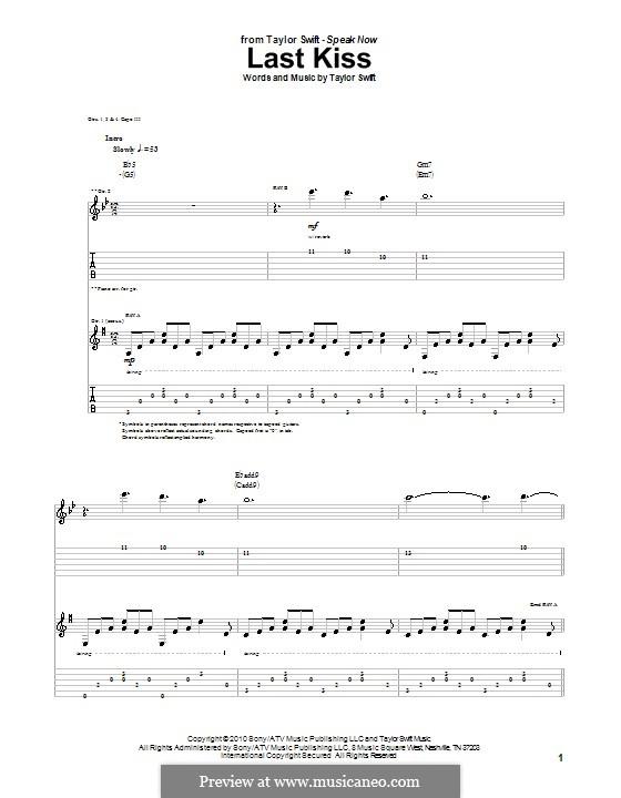 Magnificent Last Kiss Chords Taylor Swift Motif Basic Guitar