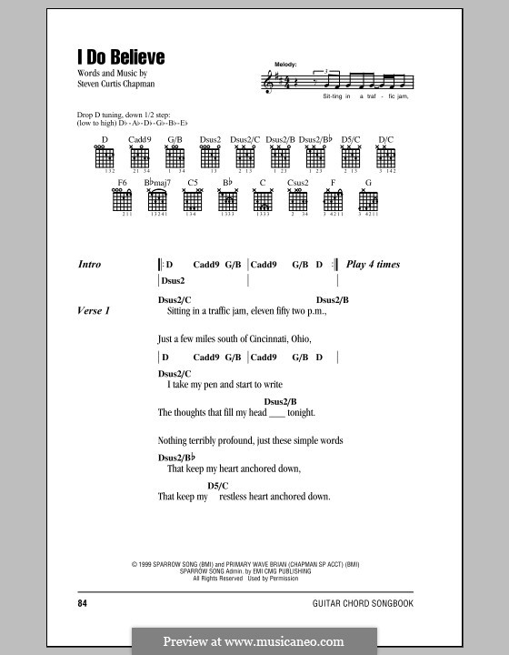 I Do Believe by S.C. Chapman - sheet music on MusicaNeo