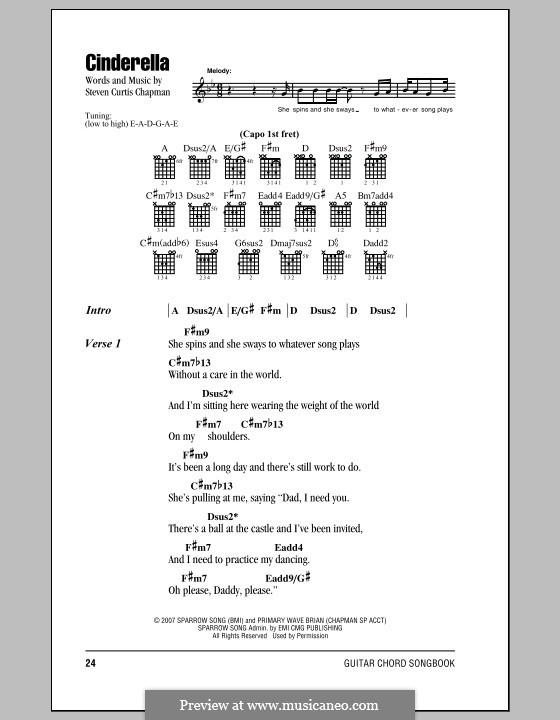 Cinderella by S.C. Chapman - sheet music on MusicaNeo