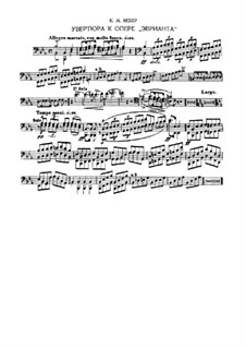 Overture: Fragments from bassoon part by Carl Maria von Weber