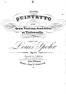 String Quintet No.4 in A Minor, Op.91: String Quintet No.4 in A Minor by Louis Spohr
