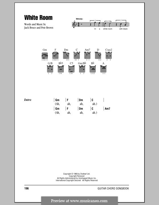 White Room Bass Tab