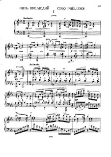 Five Preludes: Five Preludes by Alexei Stanchinsky