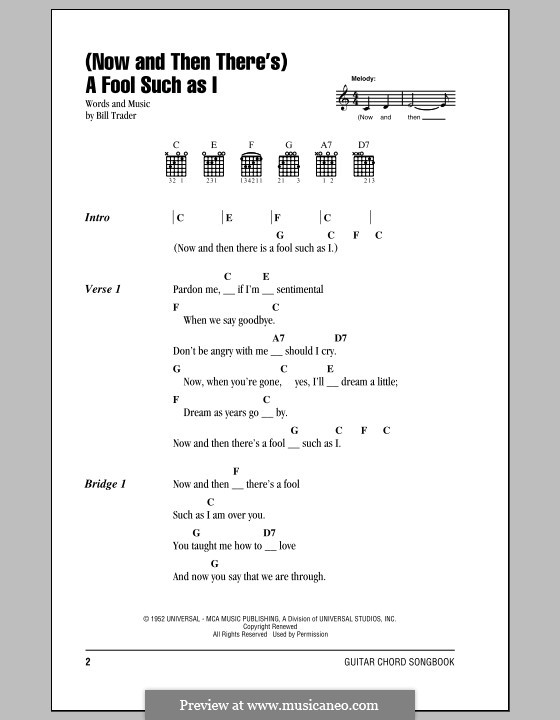 Now and Then There\'s) A Fool Such as I (Elvis Presley) by B. Trader ...