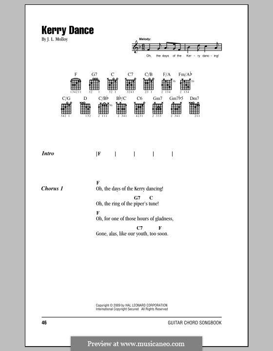 The Kerry Dance: Lyrics and chords by James L. Molloy
