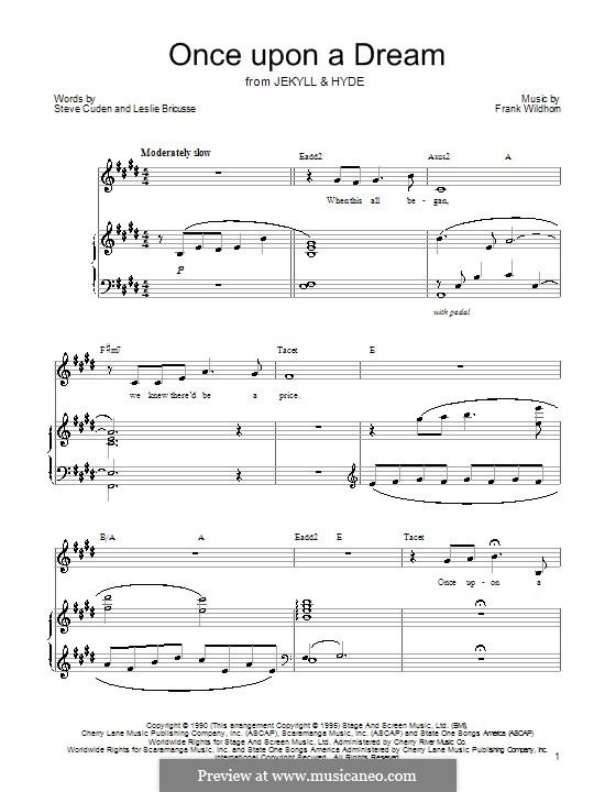 Once Upon a Dream: For voice and piano by Frank Wildhorn