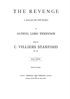 The Revenge, Op.24: The Revenge by Charles Villiers Stanford
