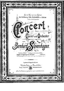 Piano Concerto No.1 in B Minor, Op.4: Full score by Bernhard Stavenhagen