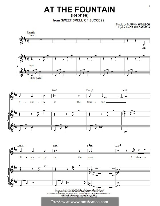 At the Fountain (Reprise): For voice and piano by Craig Carnelia