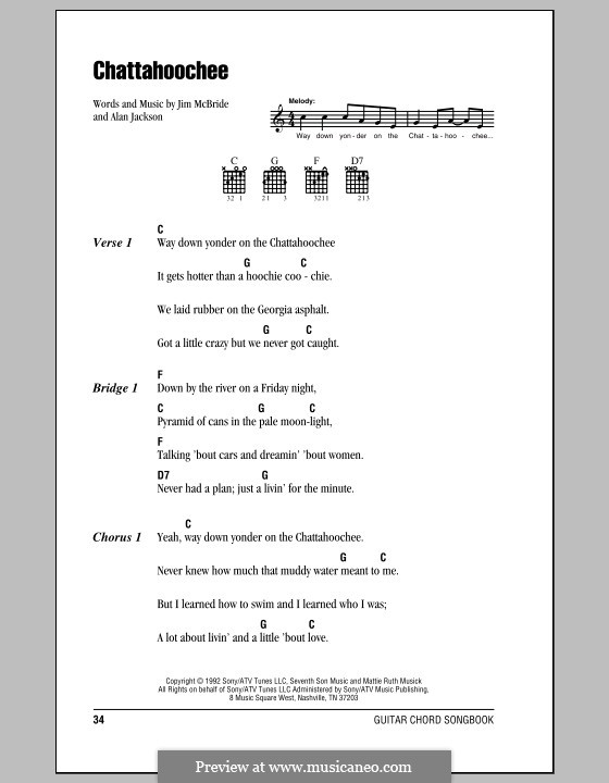Chattahoochee Alan Jackson By J Mcbride Sheet Music On Musicaneo