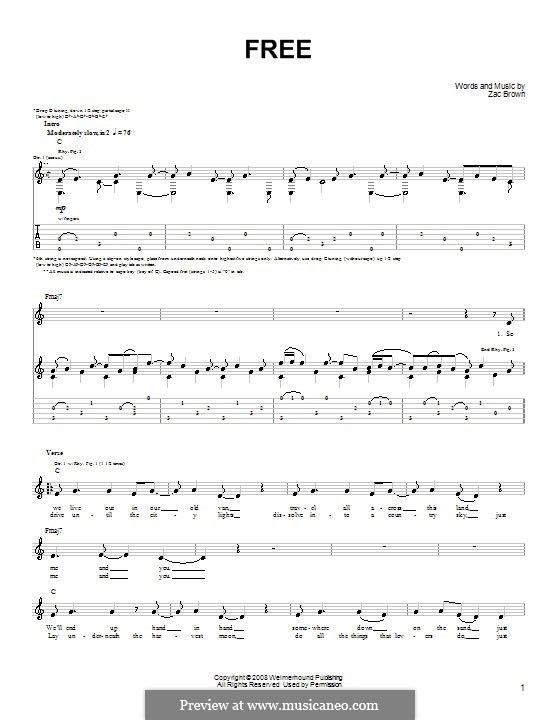 Guitar a to z guitar chords : Guitar : guitar tabs zac brown band Guitar Tabs Zac Brown along ...