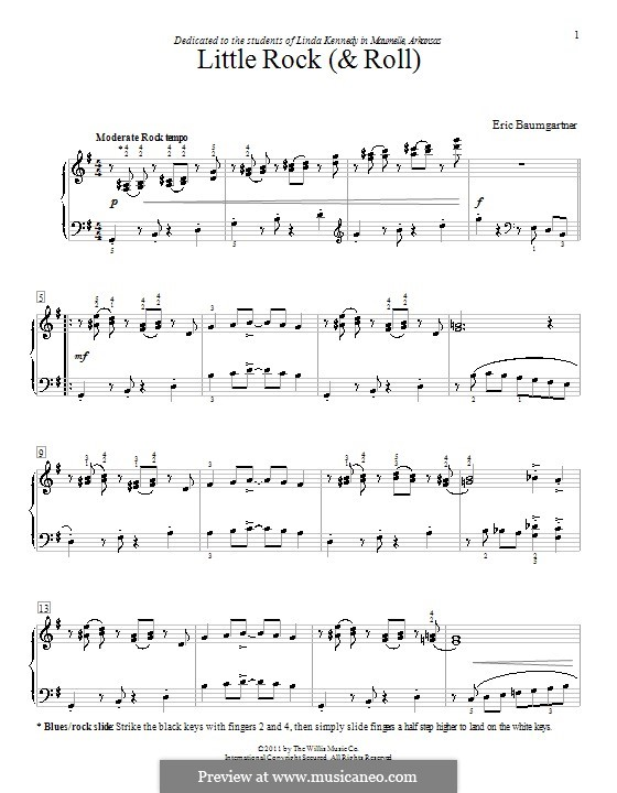 Little Rock ('N' Roll): For piano by Eric Baumgartner