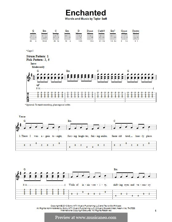 Enchanted: For guitar (very easy version) by Taylor Swift