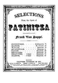 Beauties of Fatinitza: For piano four hands by Franz von Suppé