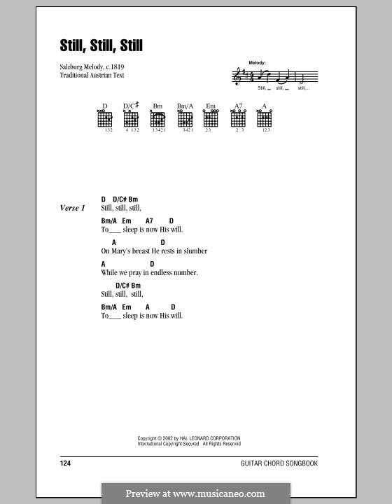 Still, Still, Still: Lyrics and chords (with chord boxes) by folklore