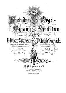 Preludes for Organ, Op.8: Preludes for Organ by Józef Surzyński