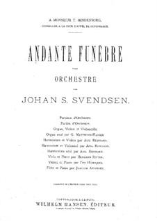 Andante Funèbre: Andante Funèbre by Johan Svendsen