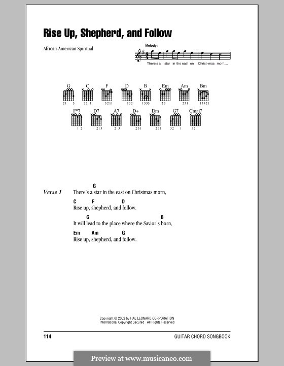 Rise Up, Shepherd, and Follow by folklore - sheet music on MusicaNeo