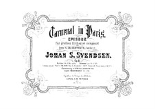 Carnival in Paris, Op.9: For orchestra by Johan Svendsen