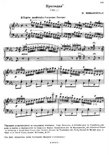 Four Preludes: Four Preludes by Maria Szymanowska