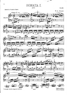 Sonata for Piano No.1 in C Major, K.279: For a single performer by Wolfgang Amadeus Mozart