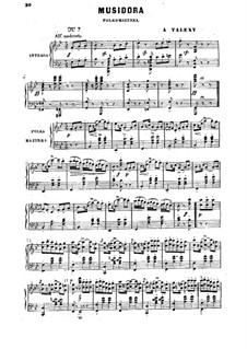 Musidora: For piano by Adrien Talexy