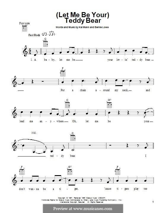 (Let Me Be Your) Teddy Bear (Elvis Presley): For ukulele by Bernie Lowe, Kal Mann