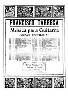 Maria. Gavotte: For guitar by Francisco Tárrega