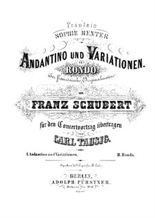 Divertissement on French Themes, D.823: No.2 Andantino varié, for piano, Op.84 by Franz Schubert