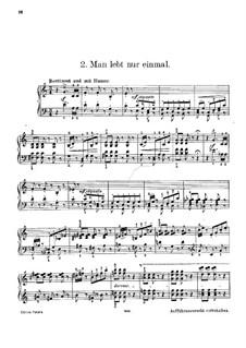 Three Waltz-Caprices: No.2 'Man lebt nur einmal' by Johann Strauss (Sohn)