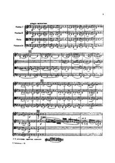 String Quartet in B Flat Major, TH 110: String Quartet in B Flat Major by Pyotr Tchaikovsky