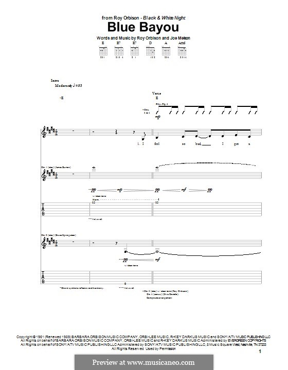 blue bayou sheet music pdf
