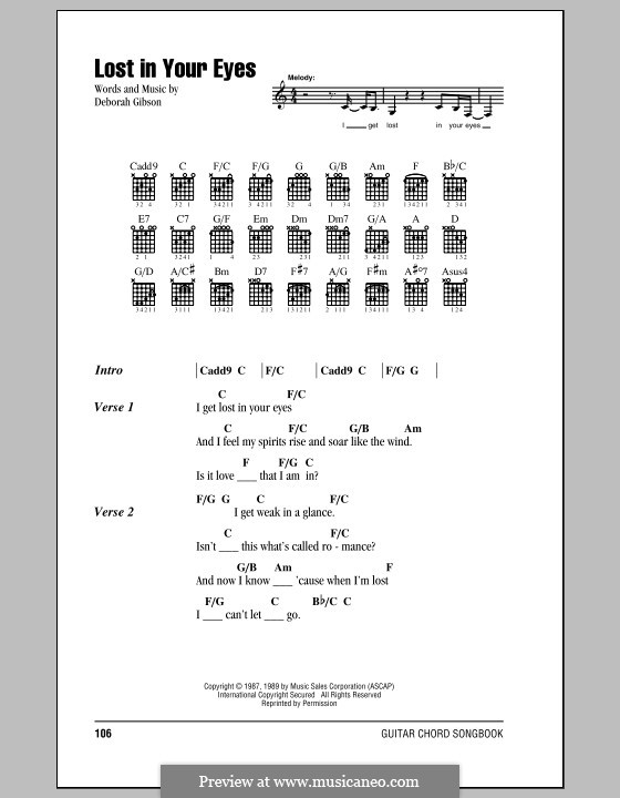 Lost in Your Eyes by D. Gibson - sheet music on MusicaNeo