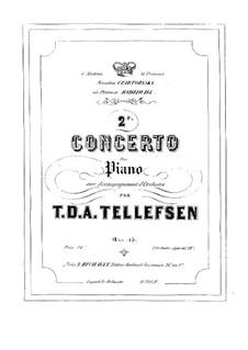Piano Concerto No.2, Op.15: Solo part by Thomas Tellefsen