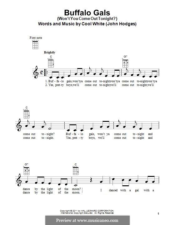 Buffalo Gals: For ukulele by John Hodges