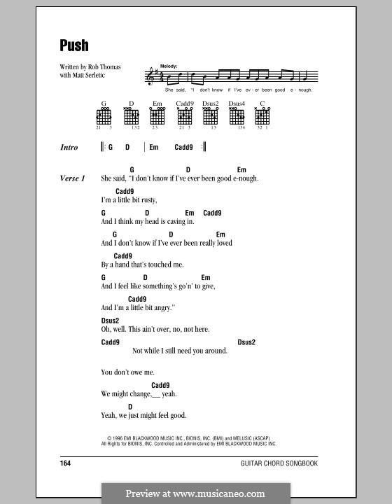 Push (Matchbox Twenty) by M. Serletic, R. Thomas - sheet music on ...