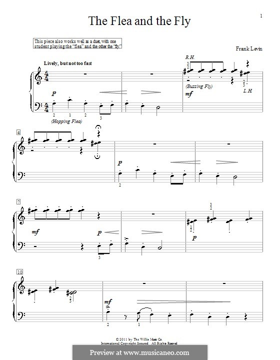 The Flea and the Fly: For piano by Frank Levin