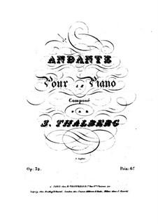 Andante in D Flat Major, Op.32: Andante in D Flat Major by Sigismond Thalberg