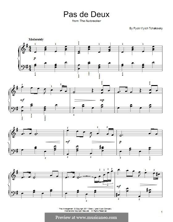 No.5 Pas de deux: Arrangement for piano (Fragment) by Pyotr Tchaikovsky