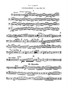 Symphony No.36 in C Major, K.425: Excerpts for bassoon by Wolfgang Amadeus Mozart