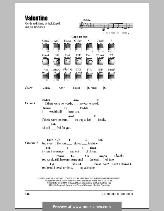 Fine Valentine Chords Adornment Song Chords Images Apa Montrealfo