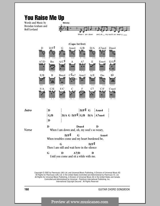 You Raise Me Up By B Graham R Lvland Sheet Music On Musicaneo