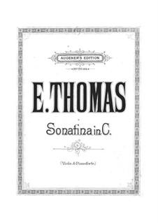 Sonatina in C Major for Viola and Piano: Sonatina in C Major for Viola and Piano by Emile Thomas