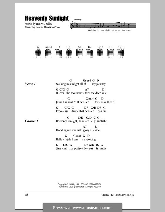 Heavenly Sunlight: Lyrics and chords by George Harrison Cook