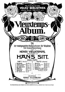Selected Pieces for Violin and Piano: Selected Pieces for Violin and Piano by Henri Vieuxtemps