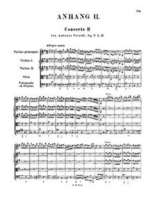Concerto for Violin and Strings No.2 in G Major, RV 299 Op.7: Full score by Antonio Vivaldi