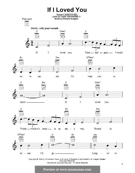 If I Loved You (from Carousel): For ukulele by Richard Rodgers